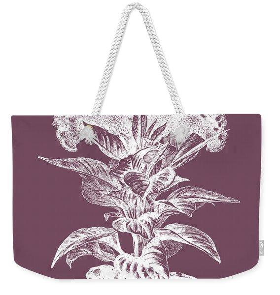 Celosia Purple Flower Weekender Tote Bag