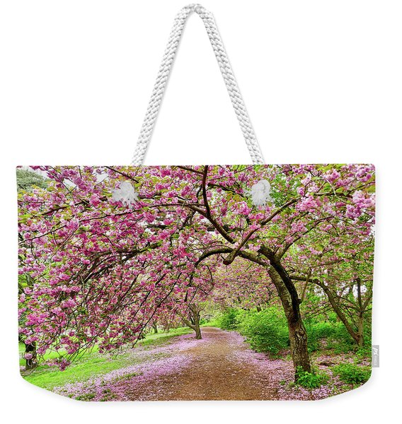 Central Park Cherry Blossoms Weekender Tote Bag