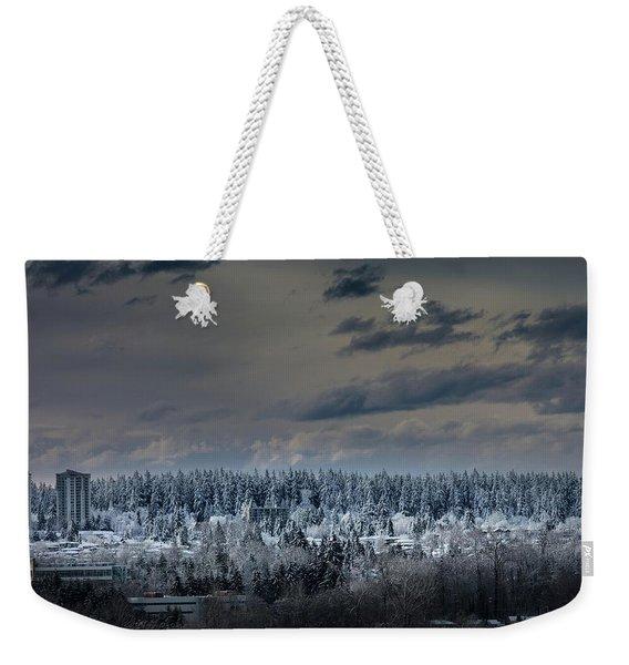 Central Park Winter Weekender Tote Bag