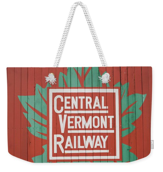 Central Vermont Railway Weekender Tote Bag