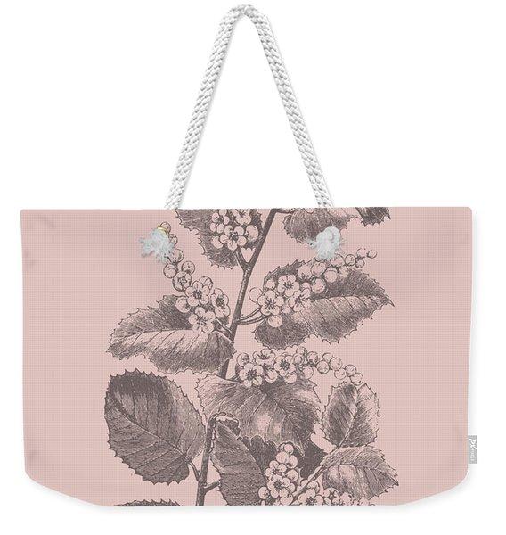 Cerasus Blush Pink Flower Weekender Tote Bag