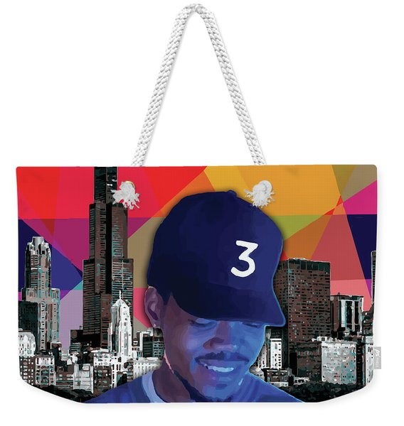 Weekender Tote Bag featuring the painting Chance Chicago by Carla B