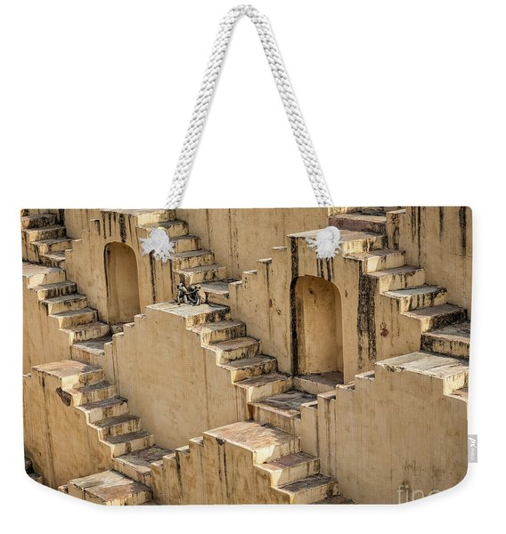 Weekender Tote Bag featuring the photograph Chand Baori by Robin Zygelman