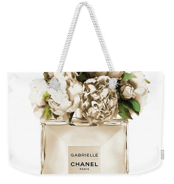 Chanel Perfume, Gabrielle, Beige Weekender Tote Bag