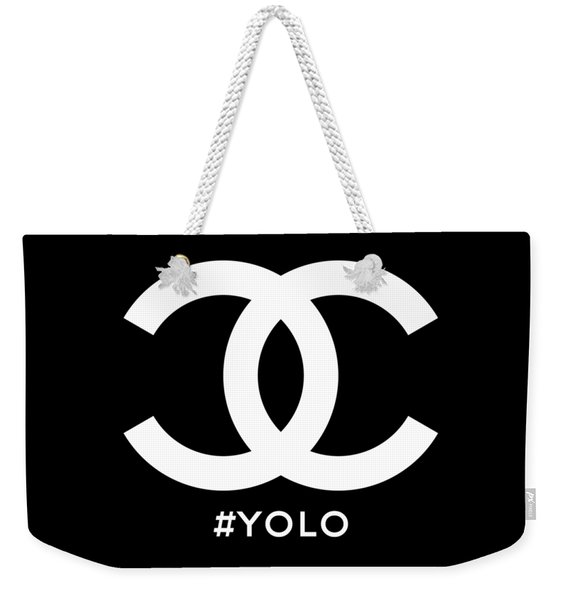 Chanel You Only Live Once Weekender Tote Bag