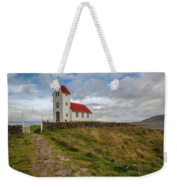 Chapel Of Iceland Weekender Tote Bag