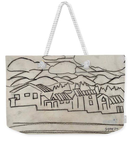 Charcoal Houses Sketch Weekender Tote Bag