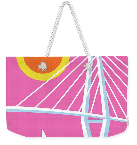 Charleston Poster - Modern Travel  Weekender Tote Bag
