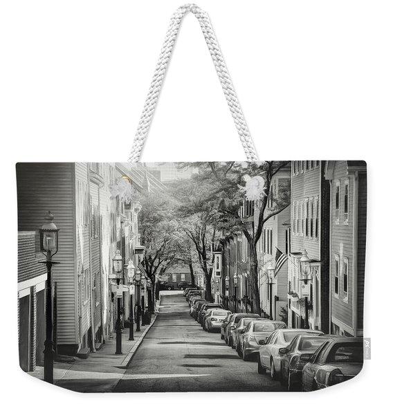 Charlestown Neighborhood Boston Massachusetts Black And White Weekender Tote Bag