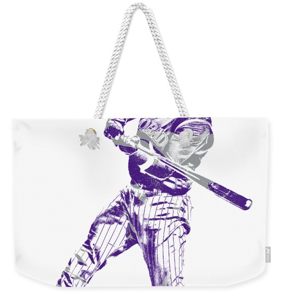 Charlie Blackmon Colorado Rockies Pixel Art 2 Weekender Tote Bag