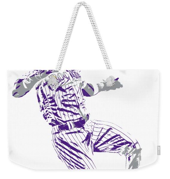Charlie Blackmon Colorado Rockies Pixel Art 3 Weekender Tote Bag