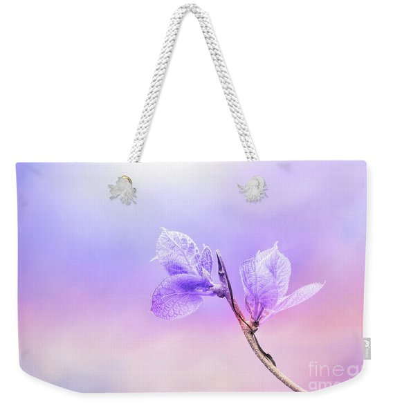 Charming Baby Leaves In Purple Weekender Tote Bag