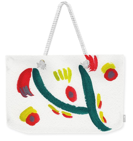 Weekender Tote Bag featuring the painting Chasing by Bee-Bee Deigner