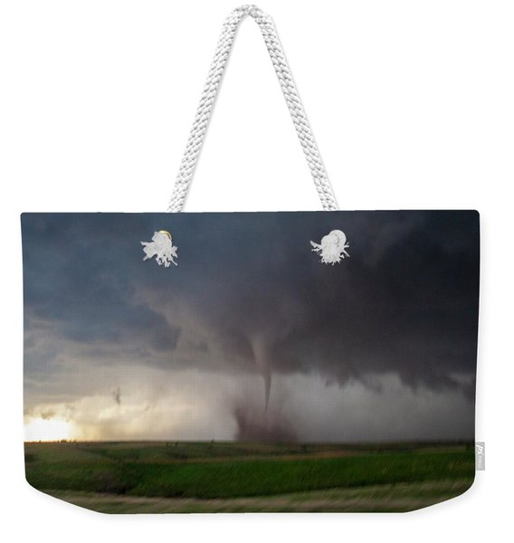 Weekender Tote Bag featuring the photograph Chasing Naders In Nebraska 026 by Dale Kaminski