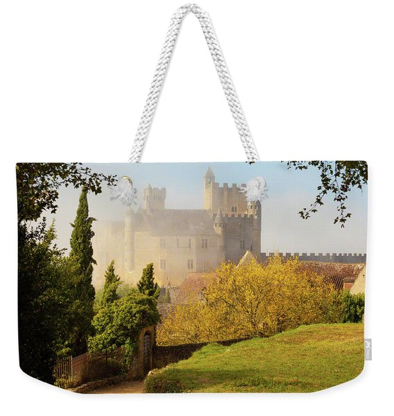 Chateau Beynac In The Mist Weekender Tote Bag