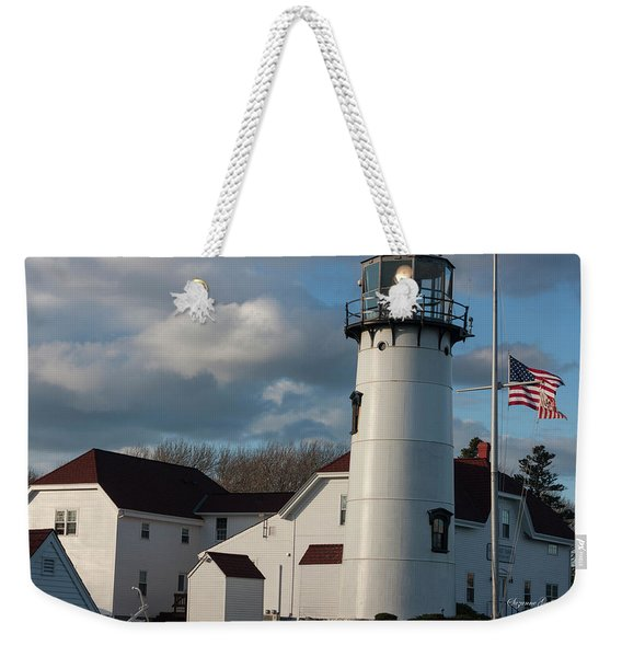 Chatham Coast Guard Lighthouse Along The Cape Weekender Tote Bag