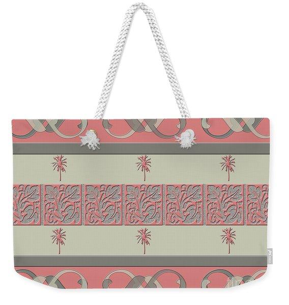 Cheery Coral Pink Weekender Tote Bag