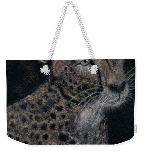 Cheetah Portrait In Pastels Weekender Tote Bag