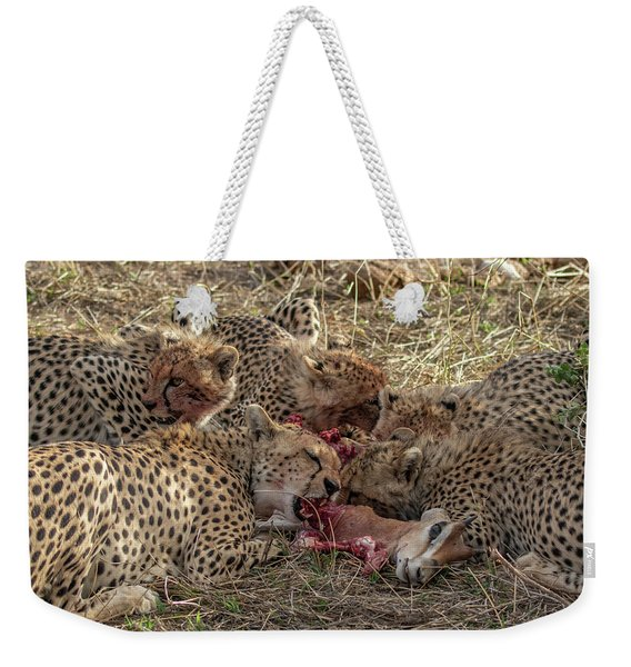 Cheetahs And Grant's Gazelle Weekender Tote Bag