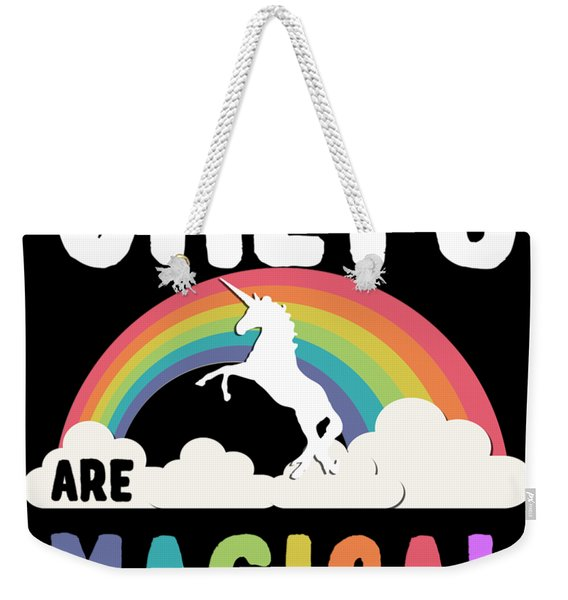 Weekender Tote Bag featuring the digital art Chefs Are Magical by Flippin Sweet Gear