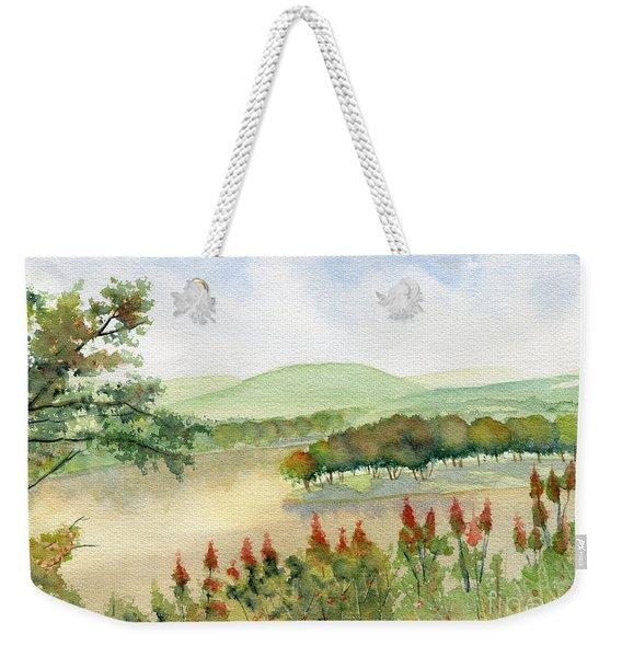 Chemung River Autumn Weekender Tote Bag