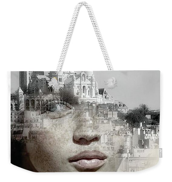 Cherishing White Buildings Weekender Tote Bag