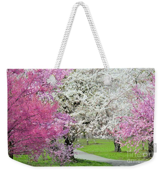 Cherry Blossom Walk Weekender Tote Bag