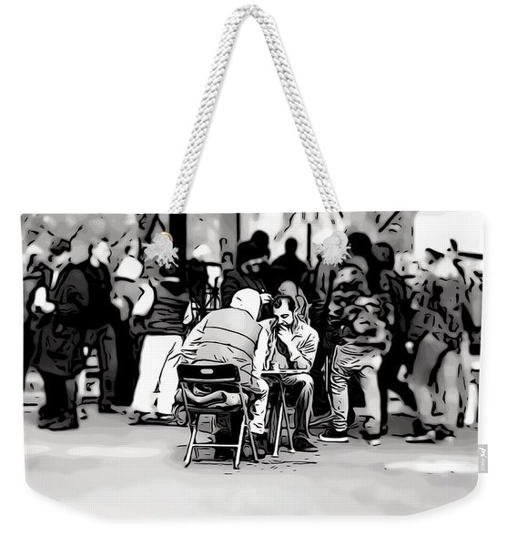 Chess Match Union Square  Weekender Tote Bag