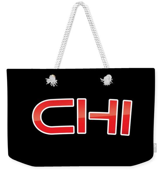 Chi Weekender Tote Bag