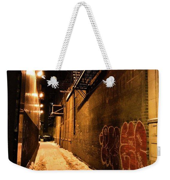 Chicago Alleyway At Night Weekender Tote Bag