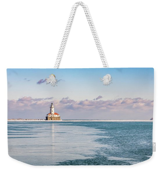 Chicago Harbor Light Landscape Weekender Tote Bag