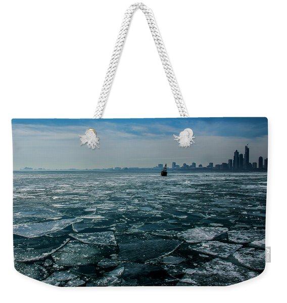 Chicago In Winter Weekender Tote Bag