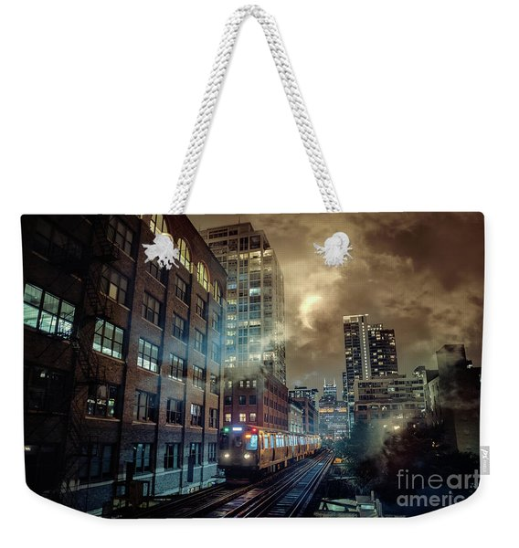 Chicago L Weekender Tote Bag