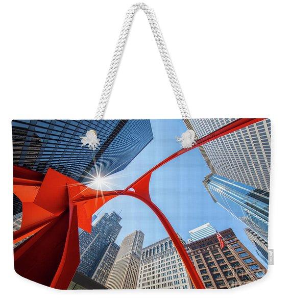 Chicago Upwards Weekender Tote Bag