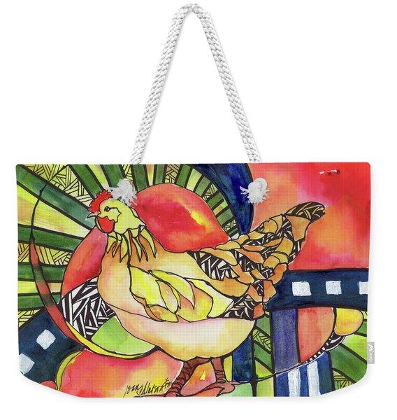 Chicken Red Weekender Tote Bag