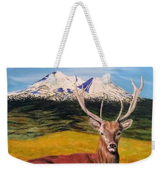 Weekender Tote Bag featuring the painting Chillin' by Kevin Daly