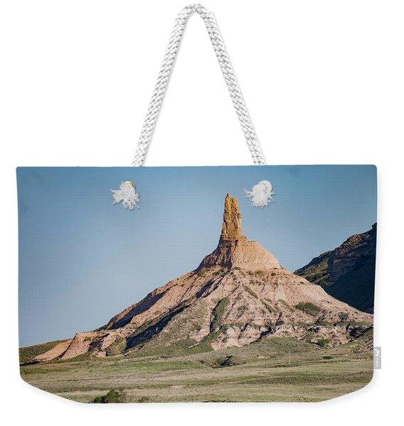 Chimney Rock In Nebraska Weekender Tote Bag