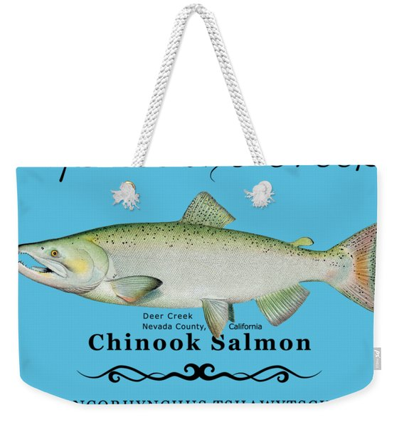 Chinook Salmon Disrupted Weekender Tote Bag