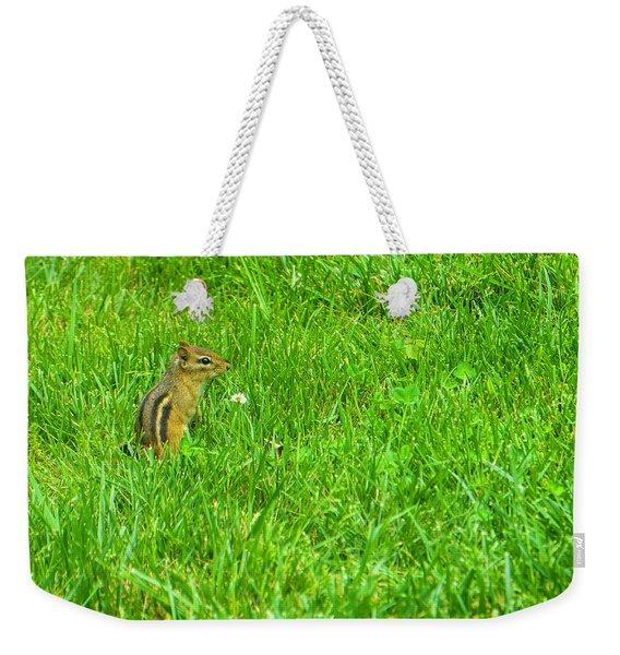 Chipmunk And The Flower Weekender Tote Bag