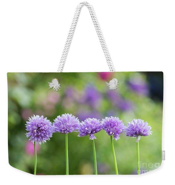 Chive Flowers Weekender Tote Bag