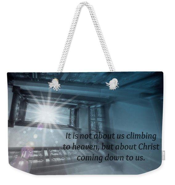 Christ Alone Weekender Tote Bag