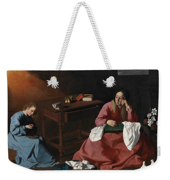 Christ And The Virgin In The House At Nazareth, 1640 Weekender Tote Bag