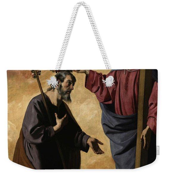 Christ Crowning Saint Joseph, 1640 Weekender Tote Bag
