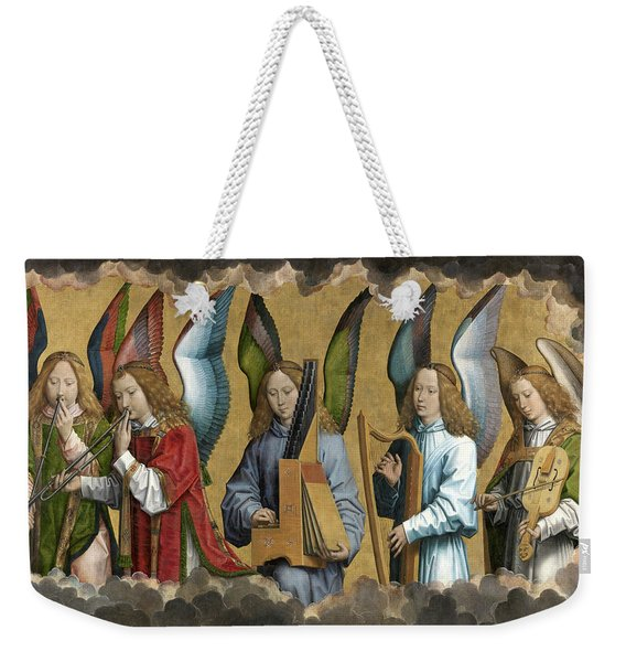 Christ With Singing And Music-making Angels - Panel 2 Weekender Tote Bag