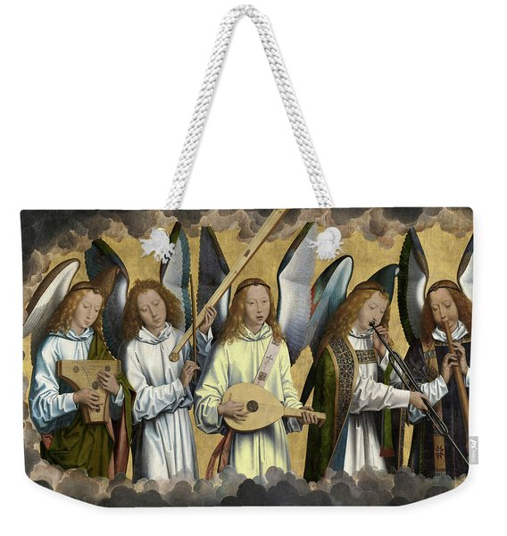 Christ With Singing And Music-making Angels - Panel 3 Weekender Tote Bag