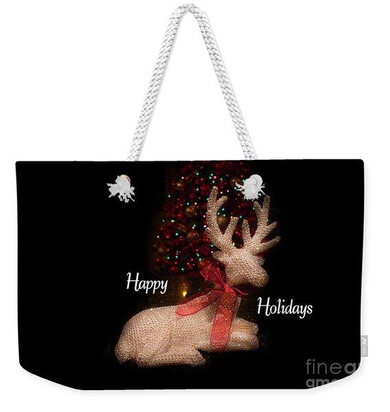 Christmas Card, Happy Holidays 2018, 3 Weekender Tote Bag