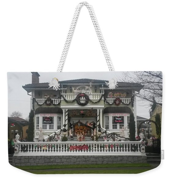 Weekender Tote Bag featuring the photograph Christmas Decoration by Juan Contreras