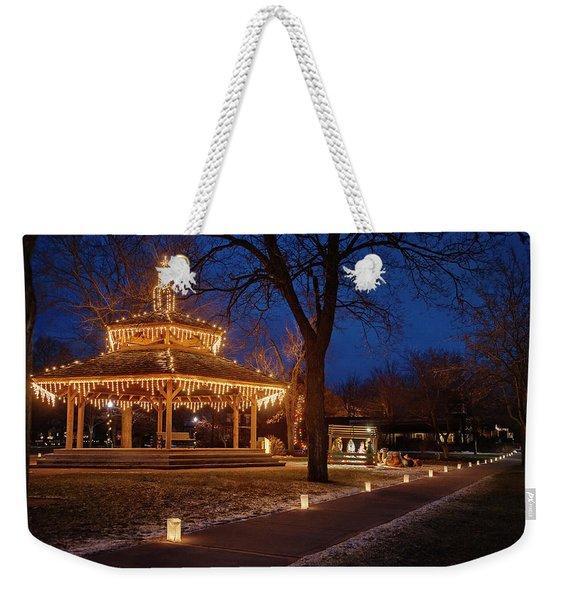 Christmas Eve In Dexter Weekender Tote Bag
