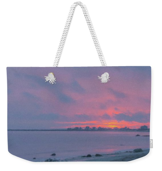 Christmas Eve Sunset Westport Point Weekender Tote Bag