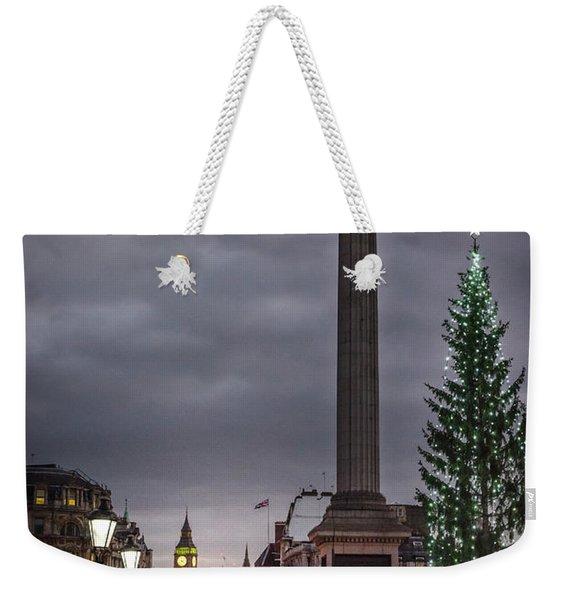 Christmas In Trafalgar Square, London Weekender Tote Bag